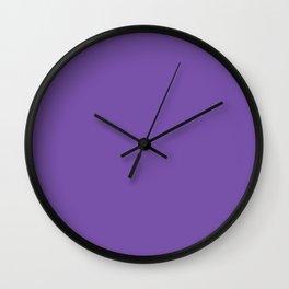 Royal purple - solid color Wall Clock