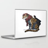 metal gear solid Laptop & iPad Skins featuring Metal Gear Solid revolver ocelot by Hisham Al Riyami