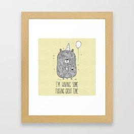 Unemotional Bear Framed Art Print