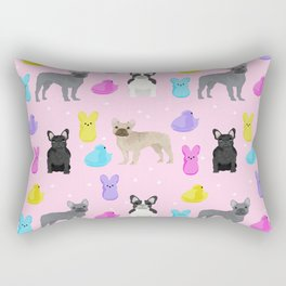 French Bulldog peeps marshmallow spring easter treats frenchie must haves dog breeds Rectangular Pillow