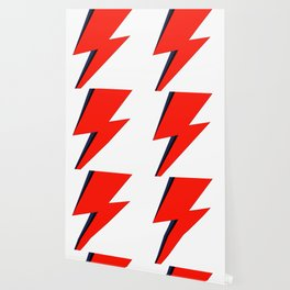 Red Bowie David Lightning Bolt Wallpaper