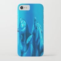 dolphin iPhone & iPod Cases featuring Dolphin by Bocese