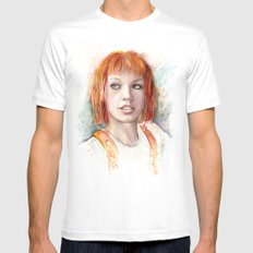 Leeloo Portrait Fifth Element Art X-LARGE Mens Fitted Tee White