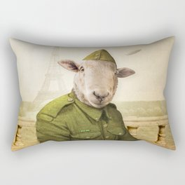 Private Leonard Lamb visits Paris Rectangular Pillow