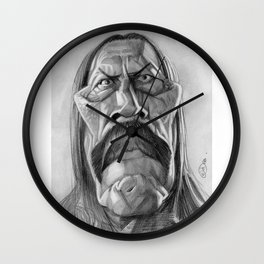 Danny Trejo, caricature. Wall Clock
