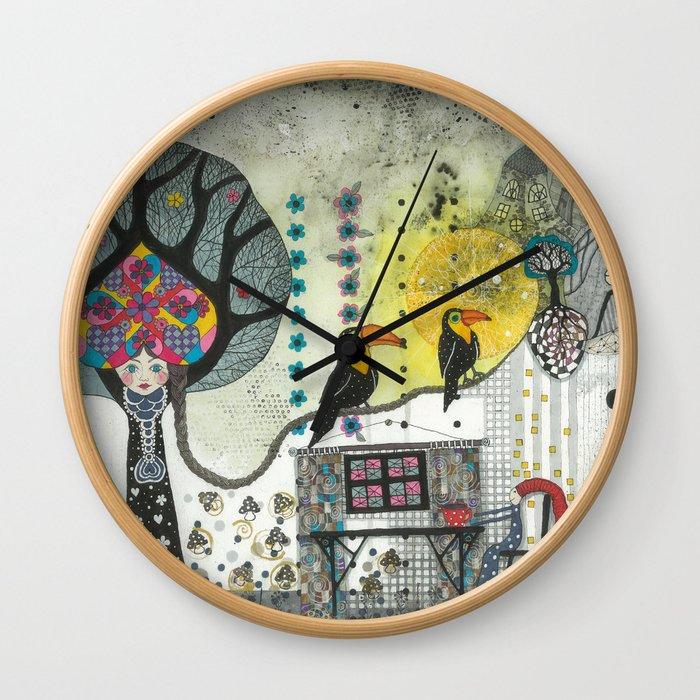"""""""Marusja""""  Illustrated print Wall Clock"""