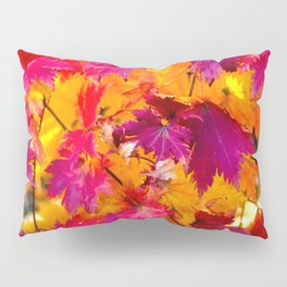 Red Maple Leaves Pillow Sham