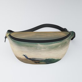 Peafowl On The Beach Fanny Pack