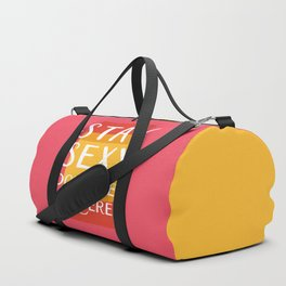 Stay Sexy Don't Get Murdered | My Favorite Murder Inspired Designs by Fox & Fancy Duffle Bag