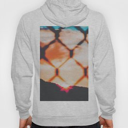 summer sunset with mountain view and cloudy sky Hoody