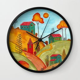 Colorful forest IV Wall Clock