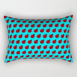 Ladybugs Pattern-Teal Rectangular Pillow