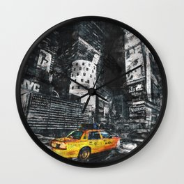 New York City sketch Wall Clock