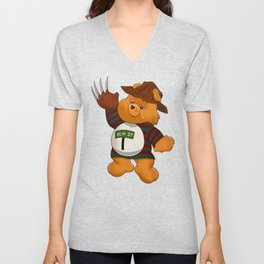 Freddy Scare Bear Unisex V-Neck
