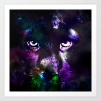 panther Art Prints featuring Panther by haroulita