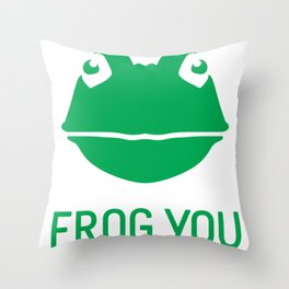 Frog You Throw Pillow
