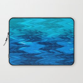 Blue Faded Chevron Laptop Sleeve