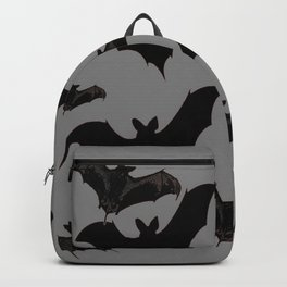 HALLOWEEN BATS ON CHARCOAL GREY WILDLIFE ART Backpack