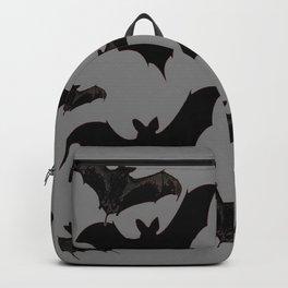 HALLOWEEN BATS ON CHARCOAL GREY WILDLIFE ART Backpack