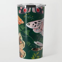 Moths and dragonfly Travel Mug