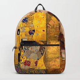 Gustav Klimt portrait The Kiss & The Golden Tears (Freya's Tears) No. 2 Backpack