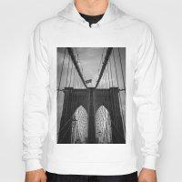 brooklyn bridge Hoodies featuring Brooklyn Bridge by Nicklas Gustafsson