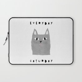 Caturday / poster, cat, art print, pictures, scandinavian, nursery, deco, family, art, animal, petti Laptop Sleeve