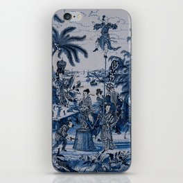17th Century Delftware Chinoiserie iPhone Skin
