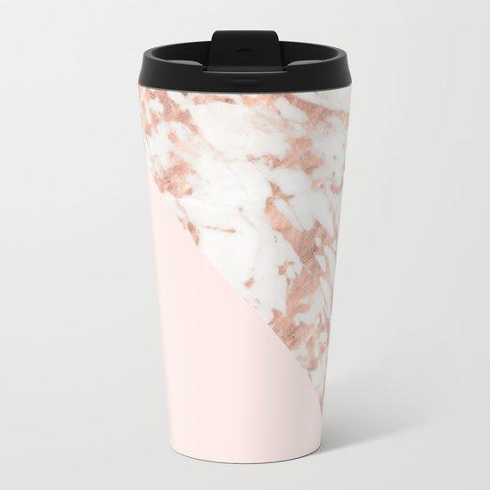 Blush Ceramic Travel Coffee Mug