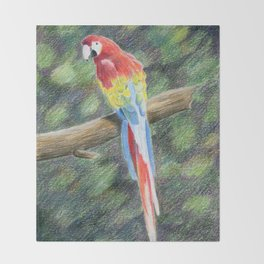 Scarlet Macaw Throw Blanket