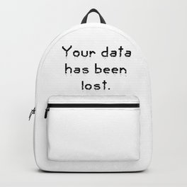 Your data has been lost. Backpack