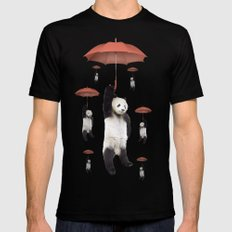 Pandachutes Black Mens Fitted Tee LARGE