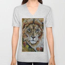 Beauty Lion Unisex V-Neck