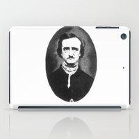 edgar allan poe iPad Cases featuring Edgar Allan Poe by Daniel Point