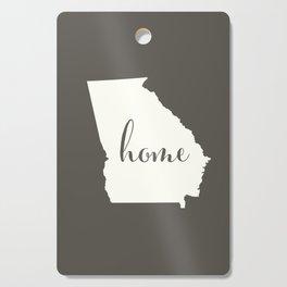 Georgia is Home - White on Charcoal Cutting Board