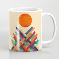 sun Mugs featuring Sun Shrine by Picomodi