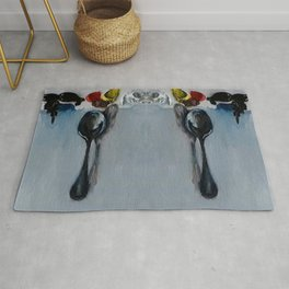 Spoon by Luna Smith Art, Oil painting on canvas, Luart Gallery Rug