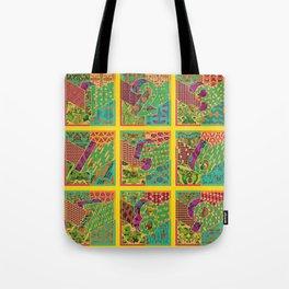 Tiles 1-9 - Yellow Tote Bag
