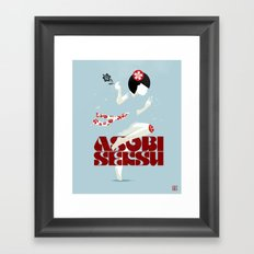 Asobi Seksu Tour Poster Framed Art Print