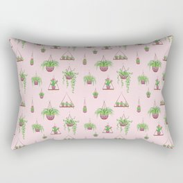Mother, Macramé I? - Hanging Plants on Pink Rectangular Pillow