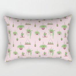 Mother, Macramé I? - Hanging Plants on Pink Rectangular Pillow