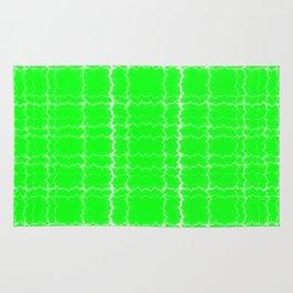 jagged, green Rug