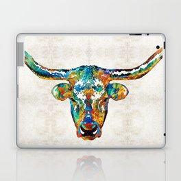 Colorful Longhorn Art By Sharon Cummings Laptop & iPad Skin