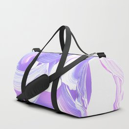 Shades of Purple Brush Stroke pattern #abstractart Duffle Bag
