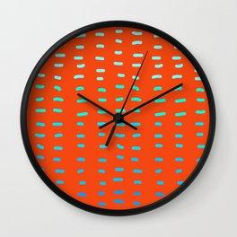 Fiesta at Festival - Orange Wall Clock
