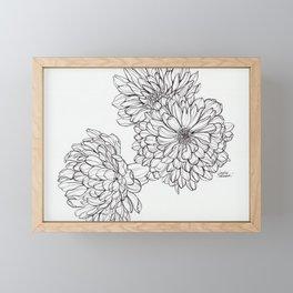 Ink Illustration of Summer Blooms Framed Mini Art Print