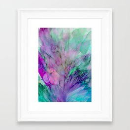 ALCOHOL INK Cvb Framed Art Print