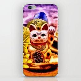 Glückskatze iPhone Skin
