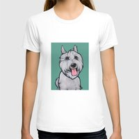 levi T-shirts featuring Levi the Miniature Schnauzer by Pawblo Picasso