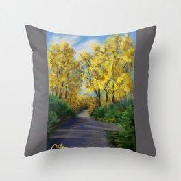 Autumn Road DP151004-14 Throw Pillow